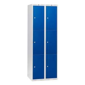 Szafa schowkowa CLASSIC 2 moduły po 3 schowki 1740x600x550 mm niebieski