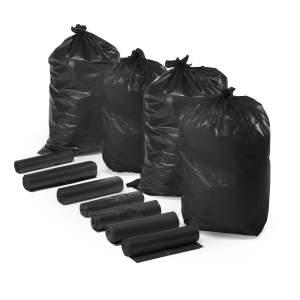 Worki na odpady, 6 rolek (25 szt./rolka), 110 L, czarny