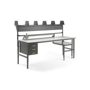 Stół roboczy CARGO - różne warianty wyposażenia