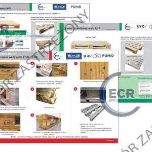 Komplet Kart Oceny Palet EPAL, EUR - rozmiar 1100 x 660 mm