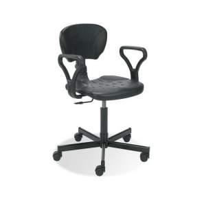 Krzesło robocze warsztatowe Rodeo z podłokietnikami niskie