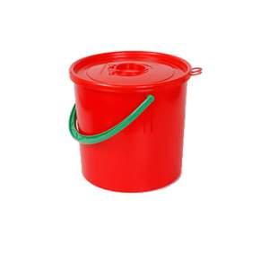 Plastikowy pojemnik na odpady ostre z otworem wrzutowym, poj. 15l czerowny