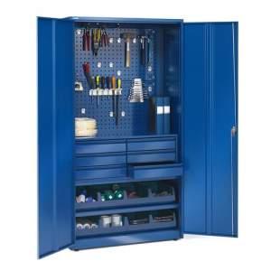 Szafa warsztatowa SUPPLY, zamykana na klucz, 1900x1020x500 mm, niebieski