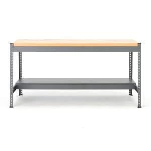 Stół warsztatowy COMBO, 915x1840x775 mm, dąb