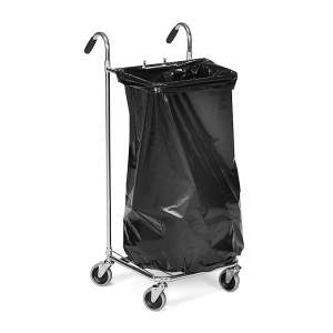Funkcjonalny wózek z uchwytem na worki 125l