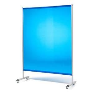 Niebieskie kurtyny spawalnicze z kółkami 1450x2010mm