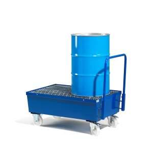 Wózek na beczki z wanną ociekową 210 litrów