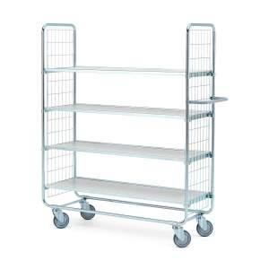 Wózek o 4 półkach - wymiary półki: 1200x425 mm - wysokość wózka: 1565 mm