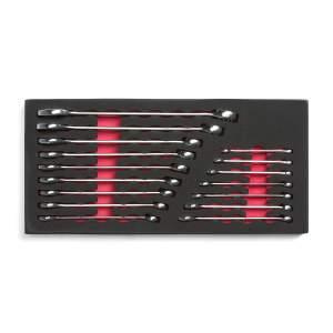 Zestaw 16 kluczy płasko-oczkowych