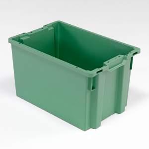 Zielony pojemnik plastikowy o poj. 66l - 400x350x600mm