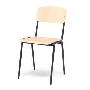 Krzesło do stołówki Clinton - brzoza, czarny
