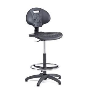 Krzesło warsztatowe Kilda wysokie 540-740 mm czarny
