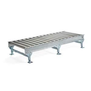 Przenośnik rolkowy 2400x1000 mm, wysokość regulowana: 375-475 mm