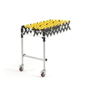 Przedłużenie do transportera rolkowego rolki nylonowe 330x990 mm