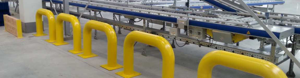 Barierki i słupki rurowe jako zabezpieczenie infrastruktury magazynowej